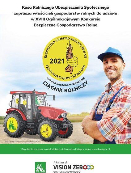"""KRUS ogłosił XVIII Ogólnokrajowy Konkurs ,,Bezpieczne Gospodarstwo Rolne"""""""
