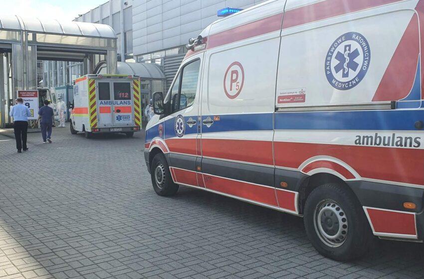Ewakuacja 12 chorych ze szpitala  tymczasowego MTP w Poznaniu