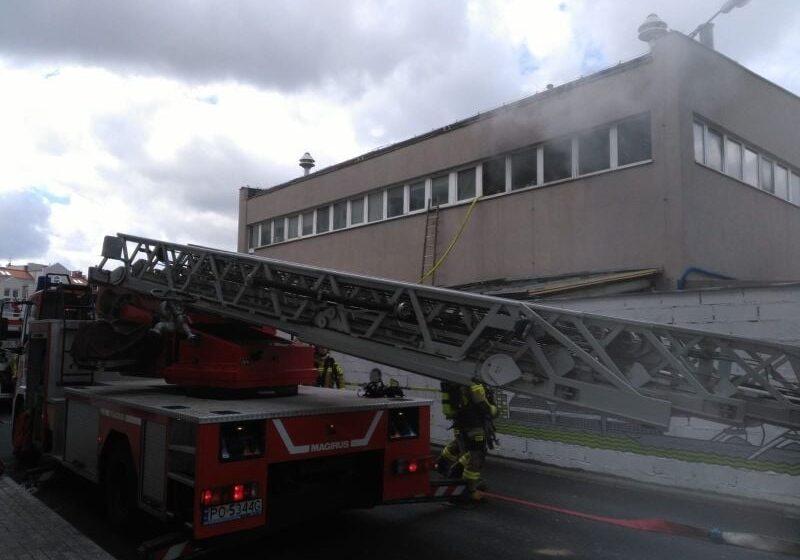 Poznań: ogień w jednym z pomieszczeń zakładu galwanizacyjnego