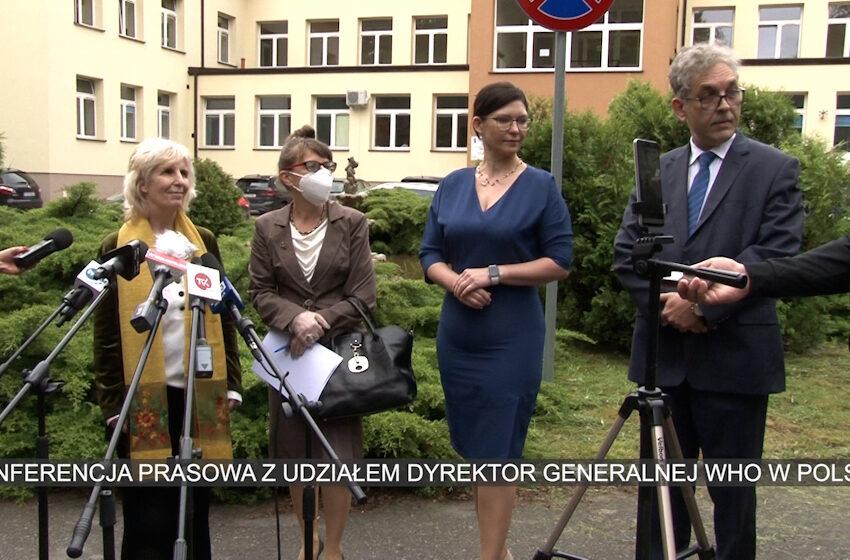 Konferencja prasowa dyrektor generalnej WHO w Polsce