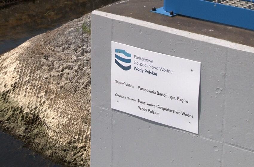 Gmina Rzgów oficjalnie oddała do użytku przepompownię w Barłogach