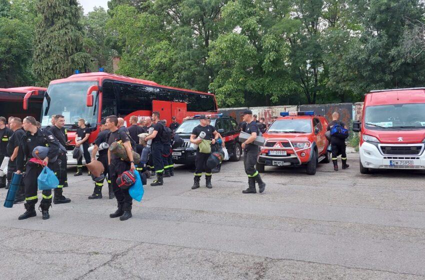 Polscy strażacy kończą misję w Grecji