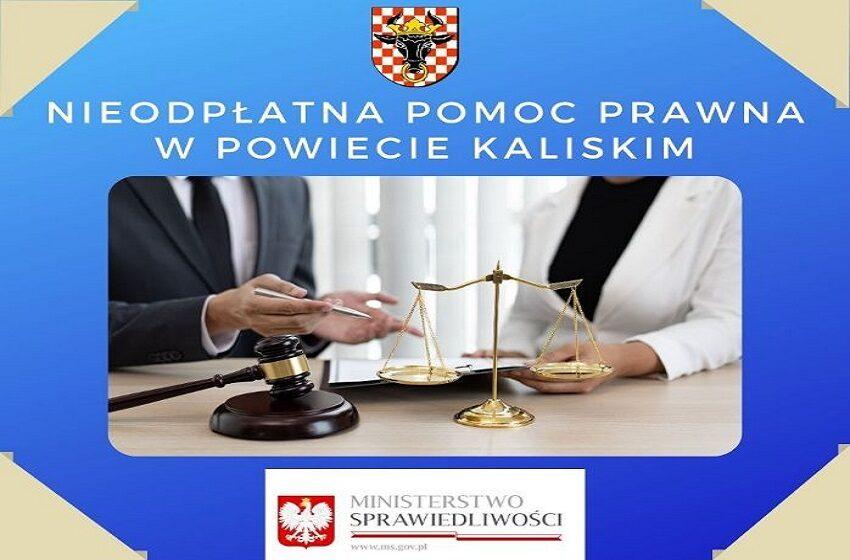 Skorzystaj z nieodpłatnej pomocy prawnej w powiecie kaliskim