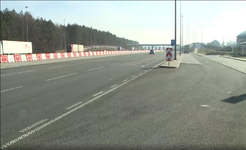 Rower na autostradzie A2 [VIDEO]