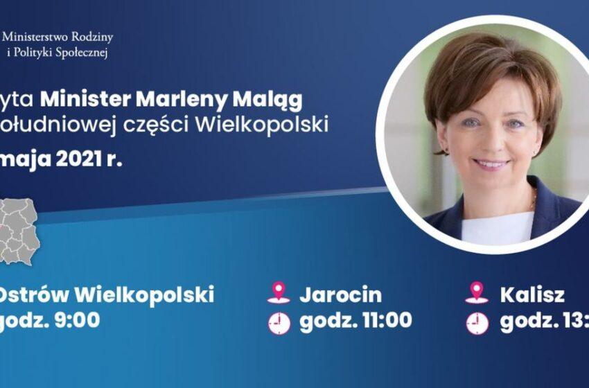 Minister rodziny i polityki społecznej Marlena Maląg z wizytą w Wielkopolsce