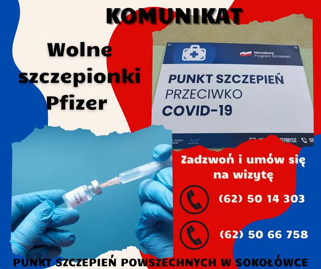 700 wolnych szczepionek Pfizer w Sokołówce