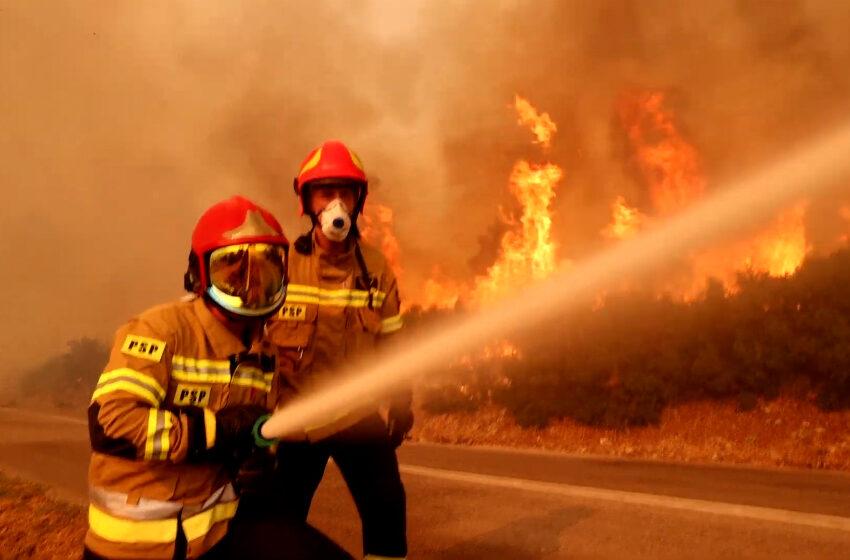 Polscy strażacy dogaszają pożary w Grecji