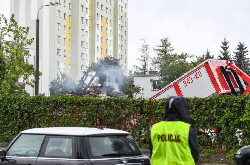Wybuch w domu jednorodzinnym w Toruniu; trwa przeszukiwanie gruzowiska